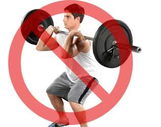 Противопоказания к упражнениям